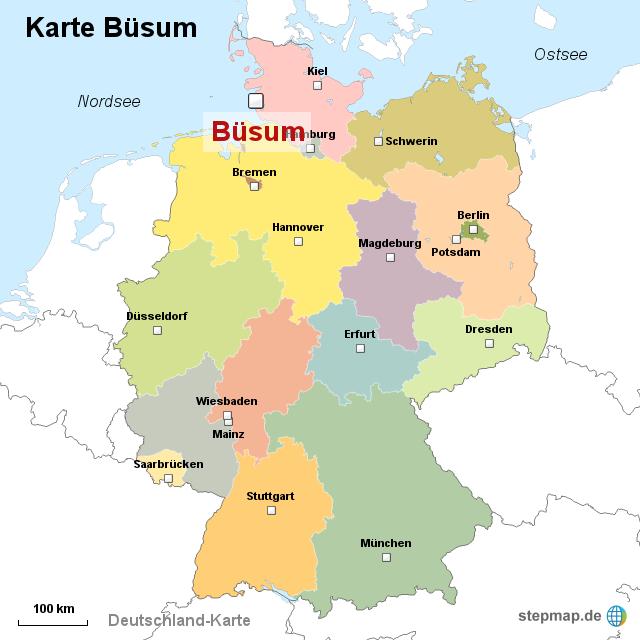Bildergebnis für deutschland karte büsum