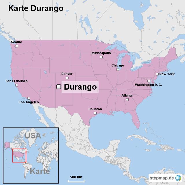 Karte Durango Von Ortslagekarte Usa Landkarte Fur Die Usa