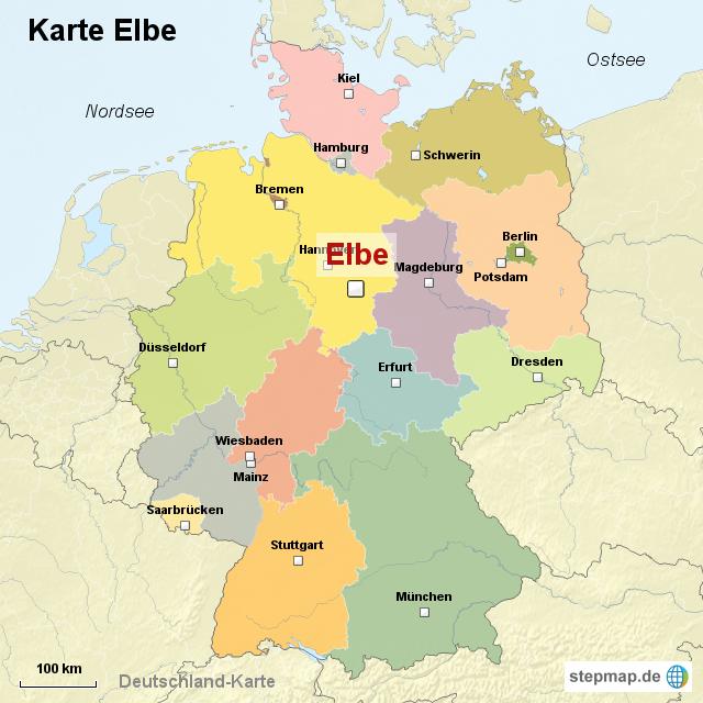 elbe karte Elbe Landkarte | Kleve Landkarte