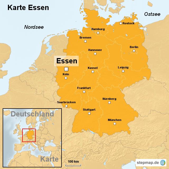 Karte Essen.Karte Essen Von Ortslagekarte Landkarte Für Deutschland