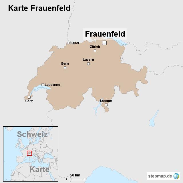 Karte Frauenfeld von ortslagekarteschweiz Landkarte fr die Schweiz