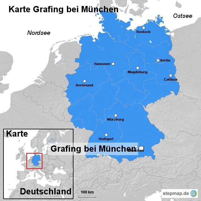 München Karte Deutschland.Karte Grafing Bei München Von Ortslagekarte Landkarte Für Deutschland