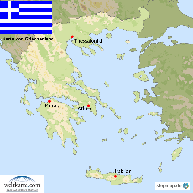 Griechenland Landkarte von Landkarten - Landkarte fur Griechenland