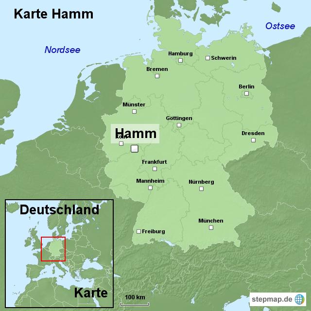 Hamm Karte.Karte Hamm Von Ortslagekarte Landkarte Für Deutschland