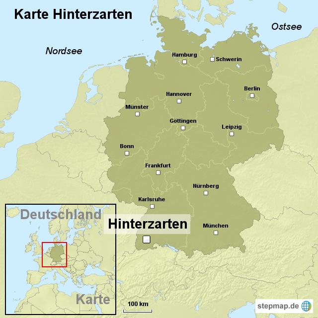 Karte Hinterzarten Von Ortslagekarte Landkarte Fur Deutschland