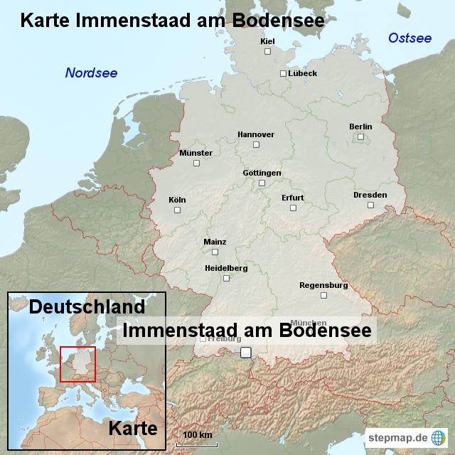 Karte immenstaad am bodensee von ortslagekarte landkarte for Bodensee karte