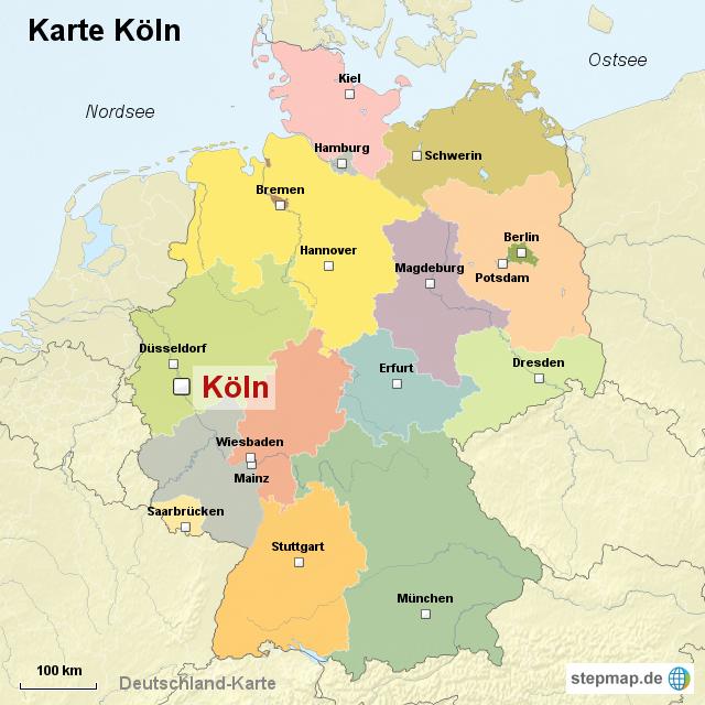 köln karte deutschland Karte Köln von ortslagekarte   Landkarte für Deutschland köln karte deutschland