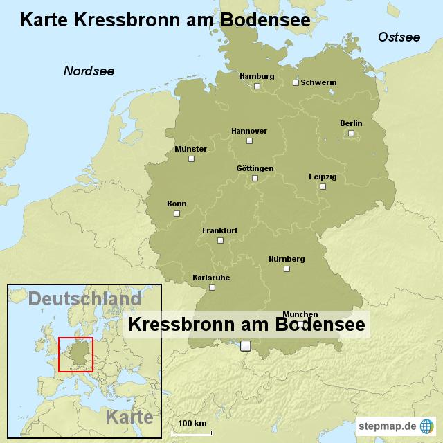 Karte kressbronn am bodensee von ortslagekarte landkarte for Bodensee karte