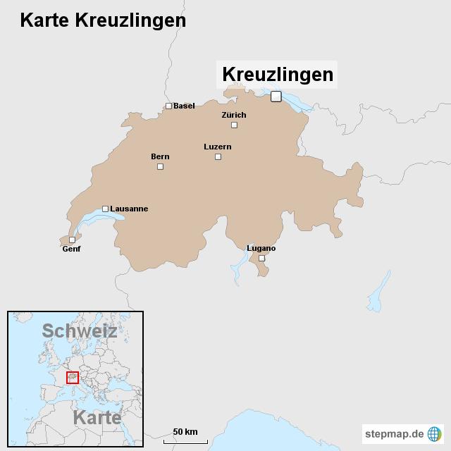 Karte Kreuzlingen von ortslagekarteschweiz Landkarte fr die Schweiz
