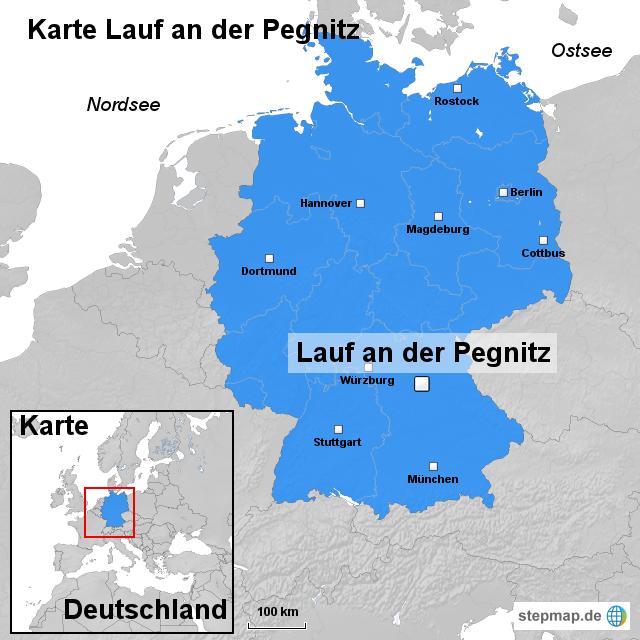 karte lauf an der pegnitz von ortslagekarte landkarte f r deutschland. Black Bedroom Furniture Sets. Home Design Ideas