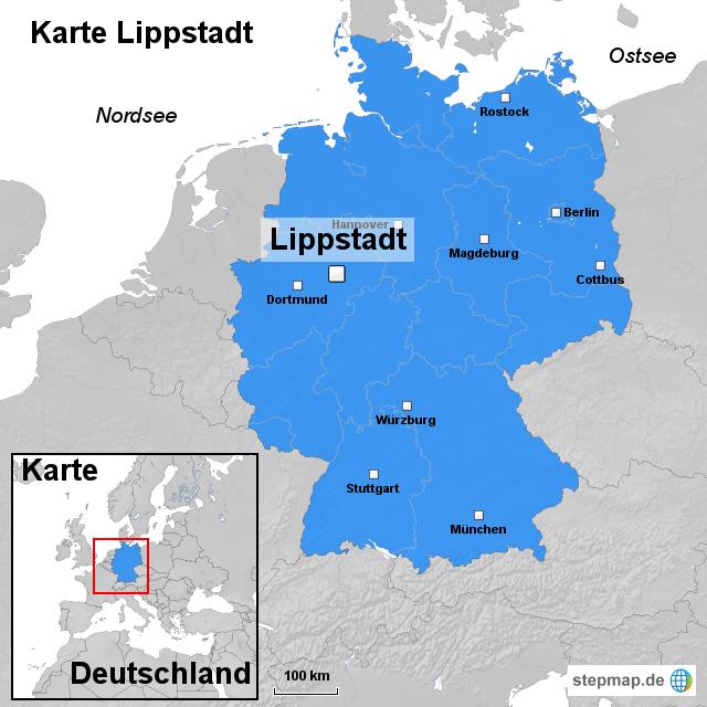 lippstadt karte deutschland Karte Lippstadt von ortslagekarte   Landkarte für Deutschland