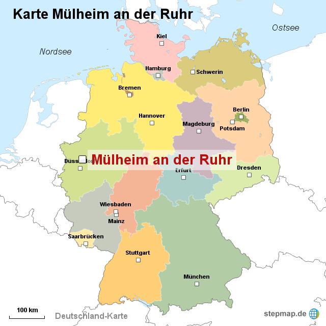 Makler M Lheim An Der Ruhr karte mülheim an der ruhr ortslagekarte landkarte für deutschland
