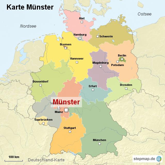 münster karte Karte Münster von ortslagekarte   Landkarte für Deutschland