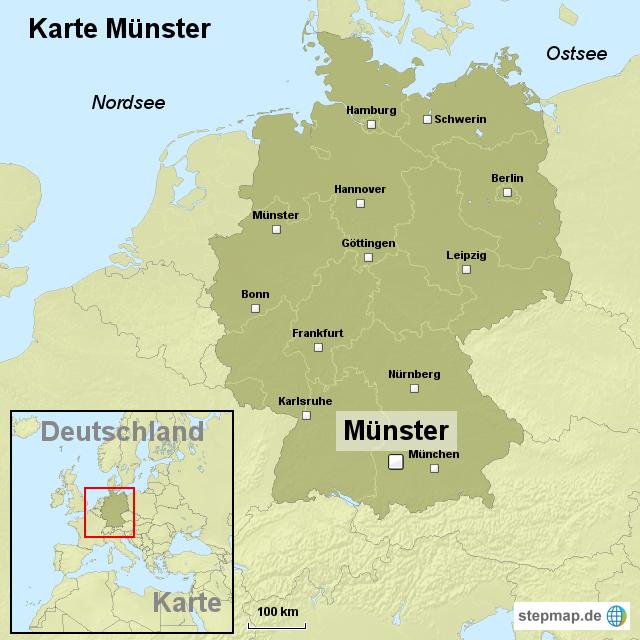 Karte Münsterland.Münster Landkarte Deutschland My Blog