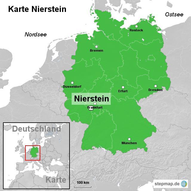 Nierstein Germany  city images : Karte Nierstein von ortslagekarte Landkarte für Deutschland