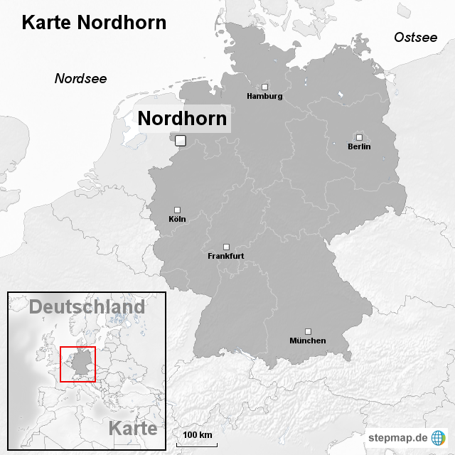 Karte Nordhorn Von Ortslagekarte Landkarte Fur Deutschland