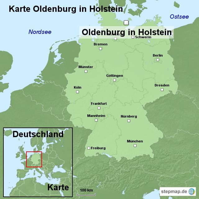 oldenburg karte Karte Oldenburg in Holstein von ortslagekarte   Landkarte für