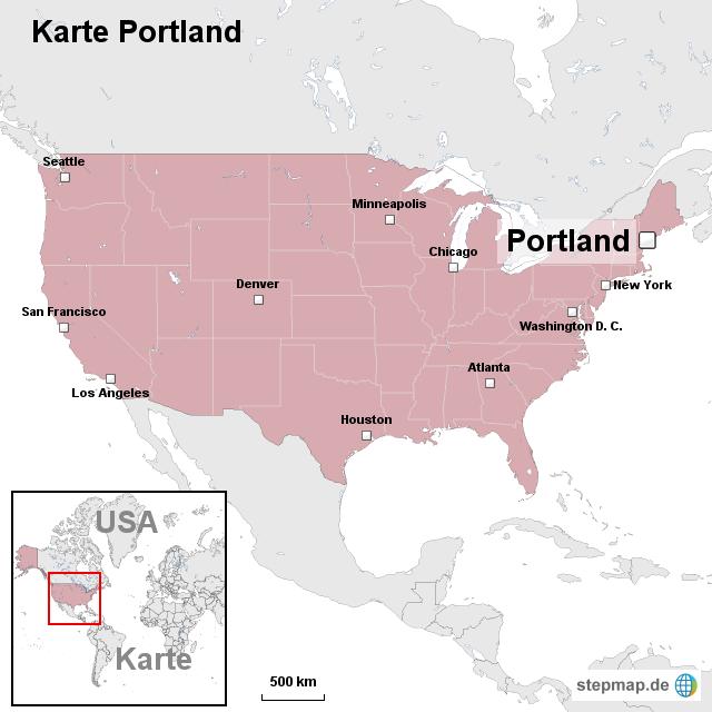 portland karte Karte Portland von ortslagekarte usa   Landkarte für die USA