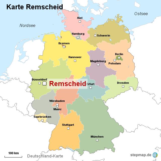 Remscheid Germany  city photos : Karte Remscheid von ortslagekarte Landkarte für Deutschland