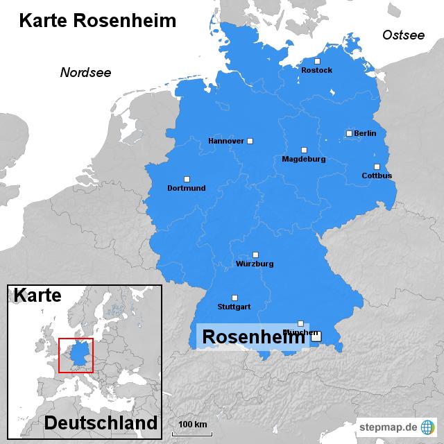 karte rosenheim von ortslagekarte landkarte f r deutschland. Black Bedroom Furniture Sets. Home Design Ideas