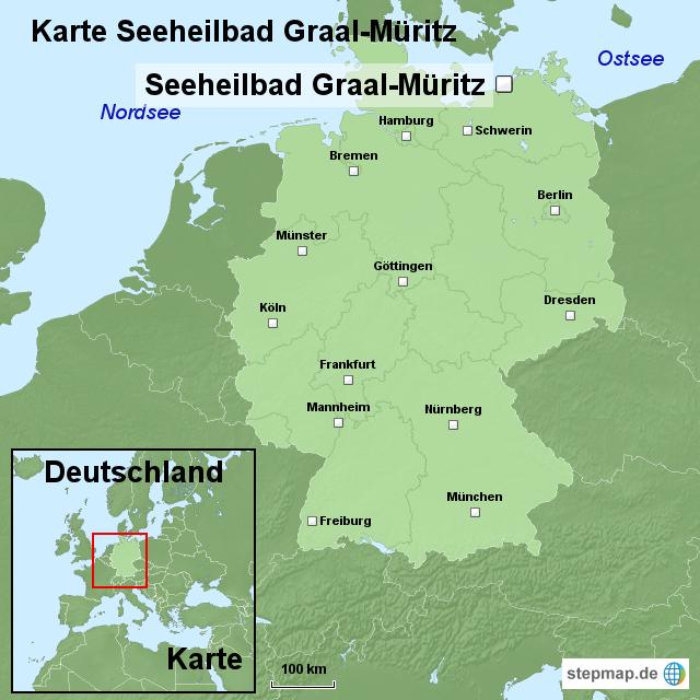 graal müritz karte Karte Seeheilbad Graal Müritz von ortslagekarte   Landkarte für