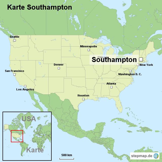 Karte Southton Von Ortslagekarteusa Landkarte Für Die Usa: Southampton Usa Map At Usa Maps