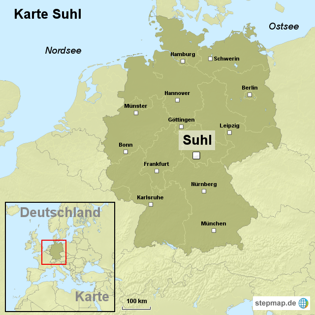 suhl karte deutschland Karte Suhl von ortslagekarte   Landkarte für Deutschland