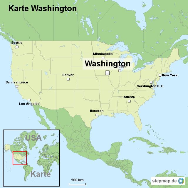 washington karte Landkarte Washington | Kleve Landkarte