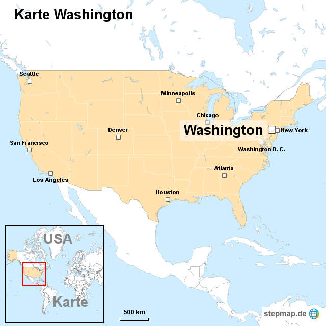 washington karte Karte Washington von ortslagekarte usa   Landkarte für die USA