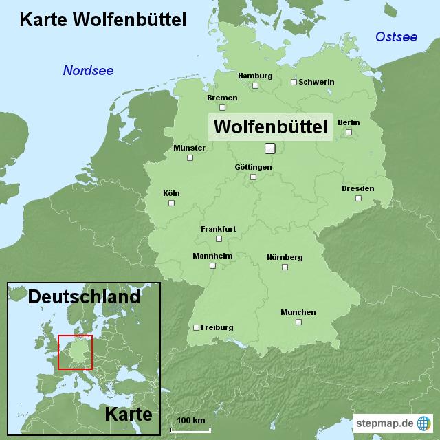 karte wolfenb ttel von ortslagekarte landkarte f r deutschland. Black Bedroom Furniture Sets. Home Design Ideas