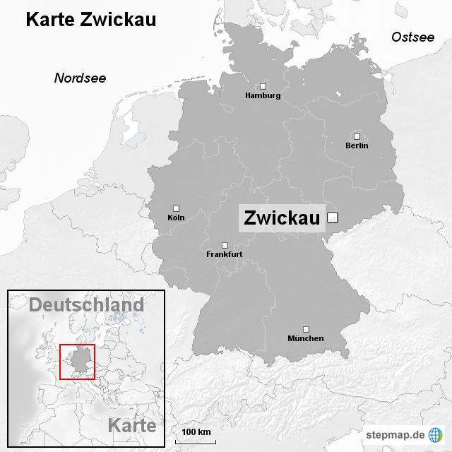 Karte Zwickau von ortslagekarte Landkarte fr Deutschland