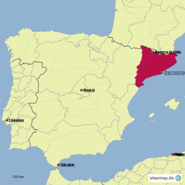 Spanien Katalonien Karte.Katalonien Von Niler97