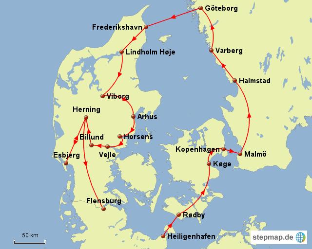 Kattegat von st0n3 - Landkarte für Dänemark