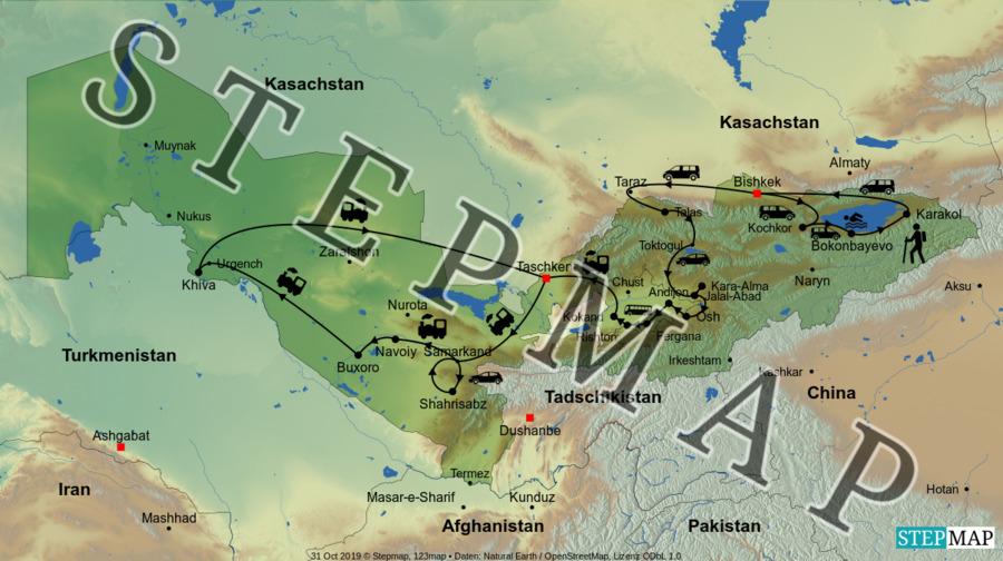 Landkarte: KIG & UZB