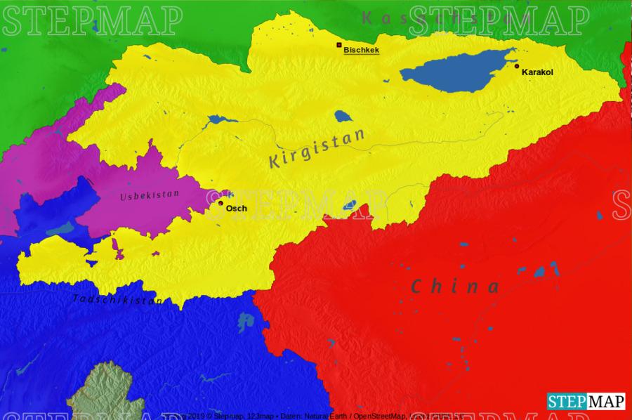 Landkarte: Kirgistan 2