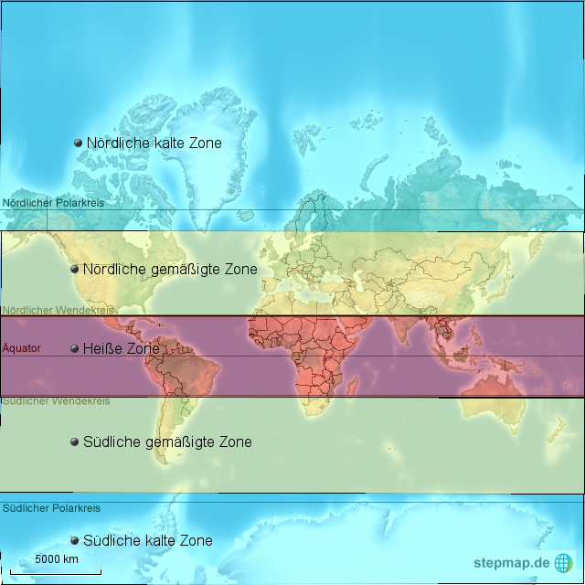 Klimazonen der Erde von geolili - Landkarte für die <b>Welt</b>