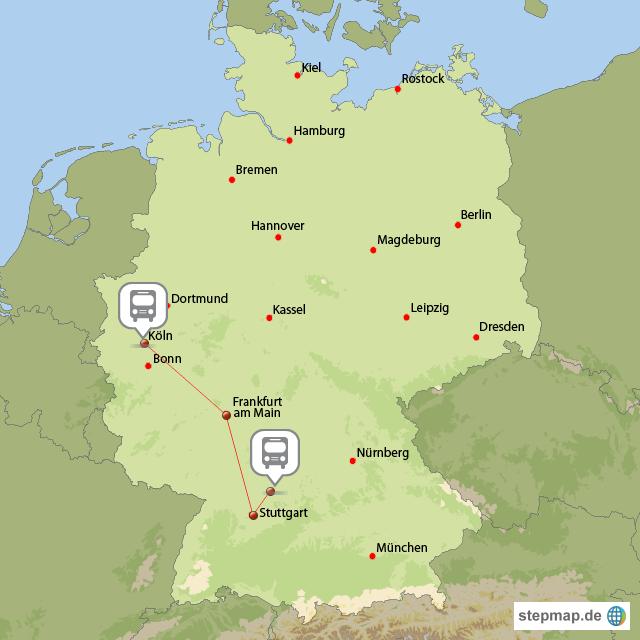 Köln Karte Deutschland.Köln Reise Von Webmaster Landkarte Für Deutschland