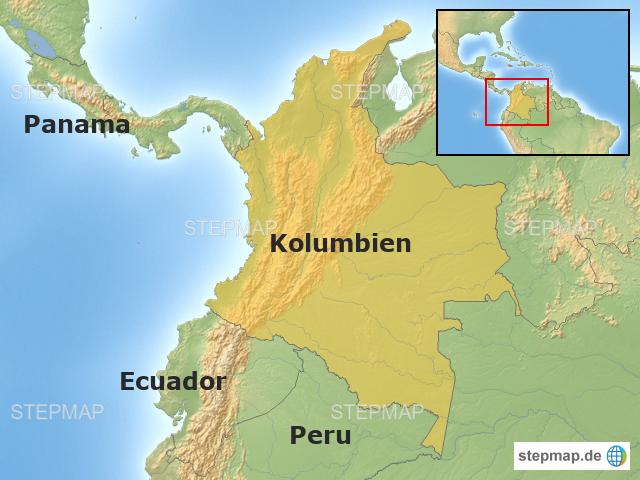 kolumbien karte kolumbien karte von infoaterlebe   Landkarte für Südamerika kolumbien karte