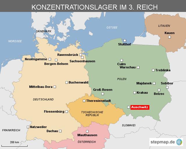 kz in deutschland karte Konzentrationslager im 3. Reich von EXPRESS   Landkarte für