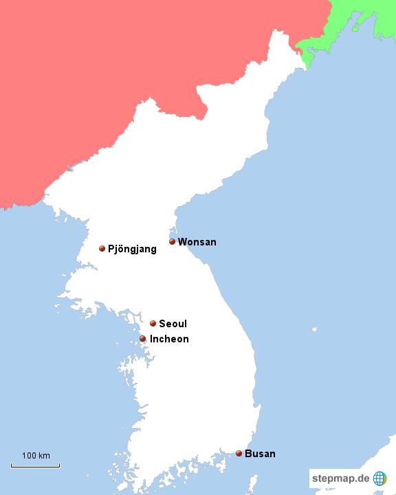 landkarte korea Korea von philipp2308   Landkarte für Nordkorea landkarte korea