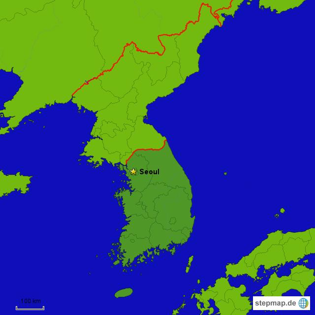 korea tour von thaiteam landkarte f r s dkorea. Black Bedroom Furniture Sets. Home Design Ideas