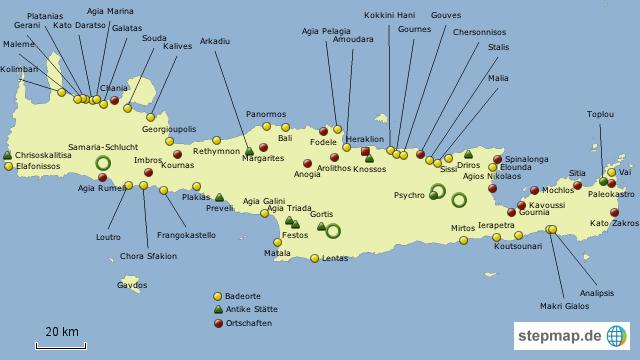 landkarte von kreta Kreta von dirk2707   Landkarte für Kreta landkarte von kreta