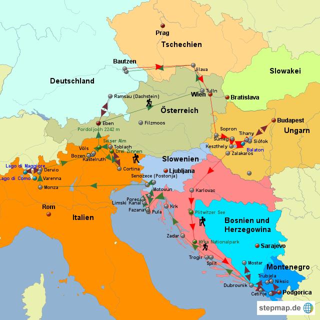 Nachbarstaaten Italien