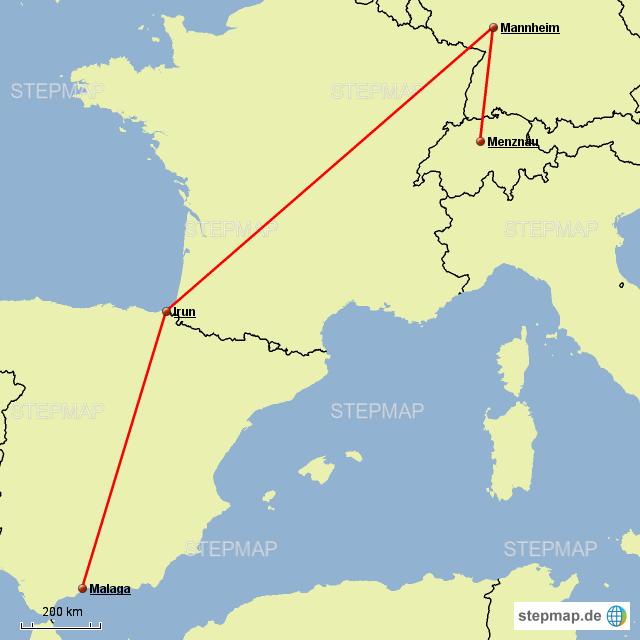 Briefe Von Spanien Nach Deutschland : Kronospanverkehr nach spanien von roboeckli landkarte
