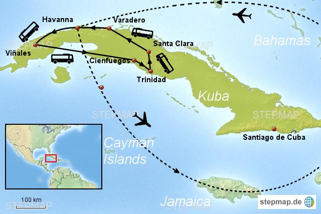 Kuba Karte Rundreise.Kuba Rundreise Und Baden Von Joventour Reiseveranstalter
