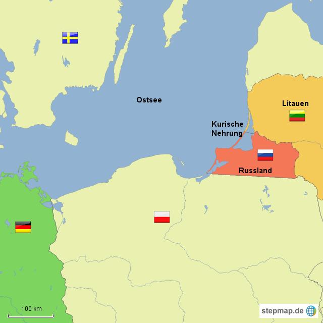 Kurische Nehrung Karte.Kurische Nehrung Von Angie72 Landkarte Fur Deutschland