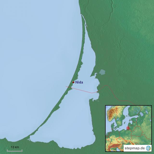 Kurische Nehrung Karte.Kurische Nehrung Von Felfe Landkarte Fur Deutschland