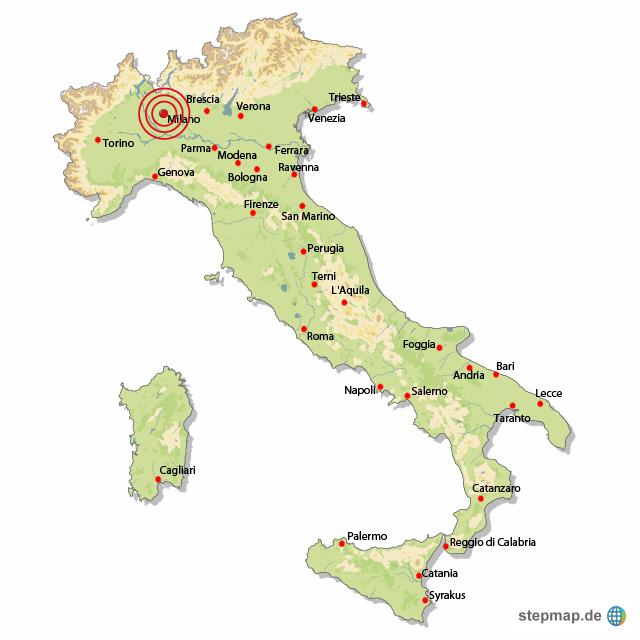 karte mailand italien Öl bei Mailand von abendblatt   Landkarte für Italien