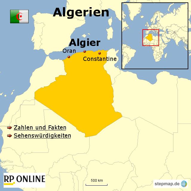 l nder der welt algerien von rponline reise landkarte f r afrika. Black Bedroom Furniture Sets. Home Design Ideas