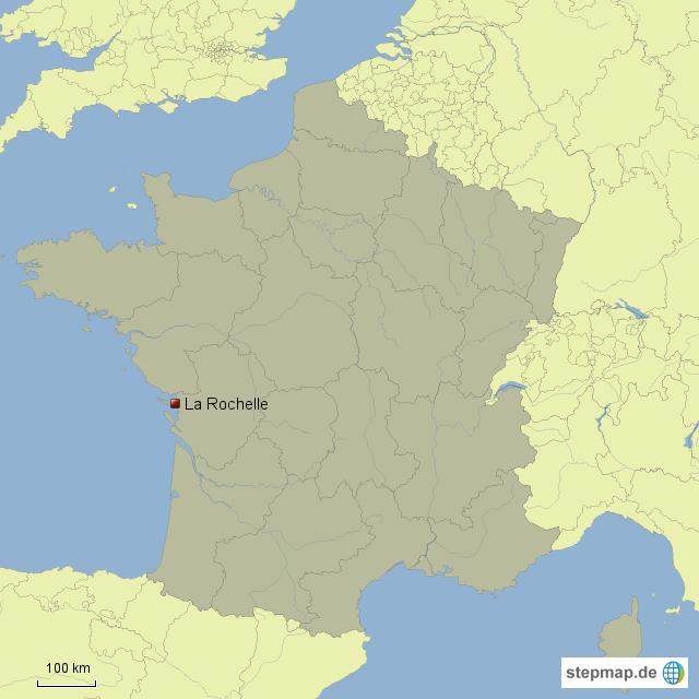 la rochelle karte La Rochelle von BFHG   Landkarte für Frankreich